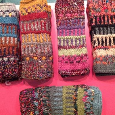 Shimmer Fair Isle Fingerless Gloves