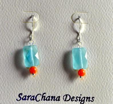 Earrings - Blue Ice by SaraChana