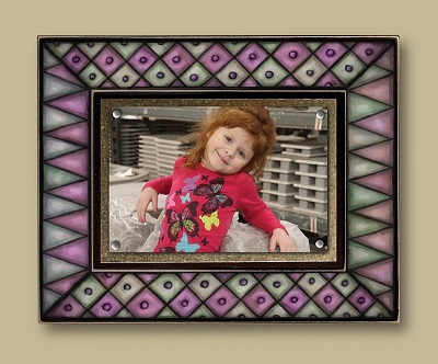 Pink Diamonds Picture Frame