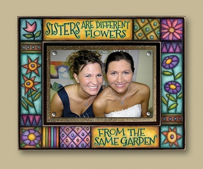 Whimsical 5x7 Picture Frame-Sisters