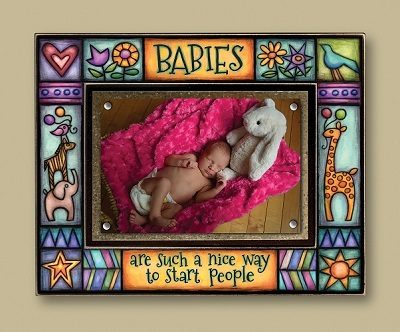 """Babies are such a nice way to start people"" - Picture Frame"