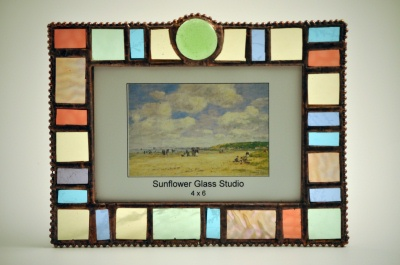 Pastel Coin Glass Picture Frame