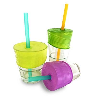 Siliskin Straw Top 3pk with Straw