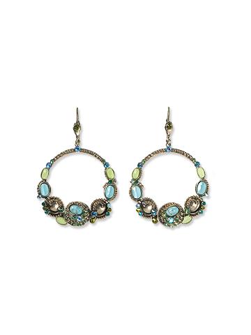 Ocean Opaque Circle Earrings by Sorrelli