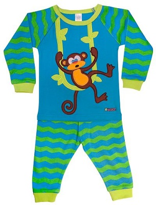 Monkey 2 piece Jammies