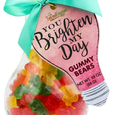 Sour Gummy Bears - Light Bulb Container