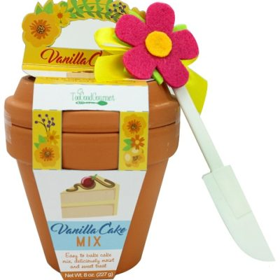Yellow Flower Pot Confetti Cake Mix