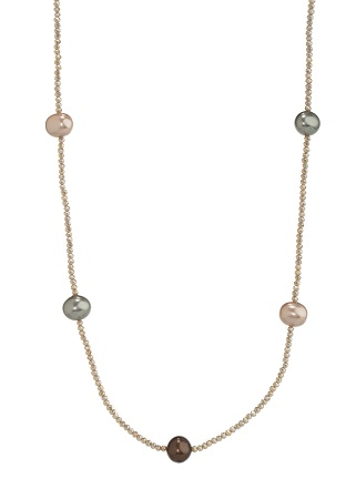 Shell Pearl Long Strand Necklace - 3 colors of Pearls