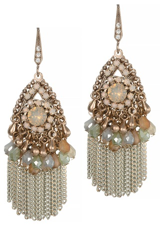 Audrey Earrings with Swarovski Crystals and Tassels