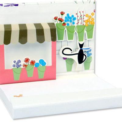 Pop-Up Notepad - Flower Shop