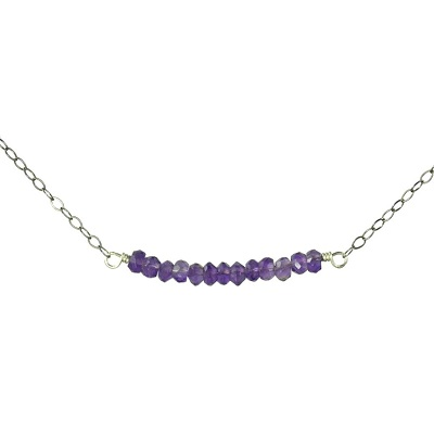 Amythyst Bar Necklace