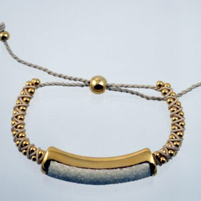 Shagreen Gold and Ivory Friendship Bracelet