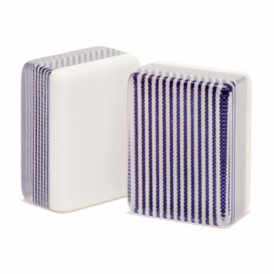 Purple Striped Triple Layer Mah Jongg Tiles