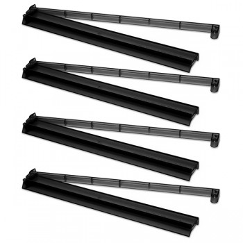 Set of 4 Frosted Black Combo Racks
