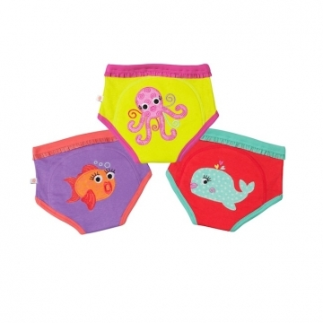 Ocean Friends Girls Organic Training Pants - 2-3 yrs
