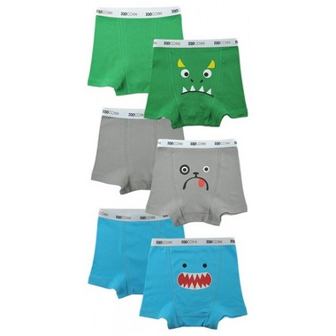 Boys Assorted Organic Boxer Set - 4-5 yrs.