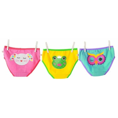 Calypso Multi 3 piece Organic Panty Set - 4-5 yrs