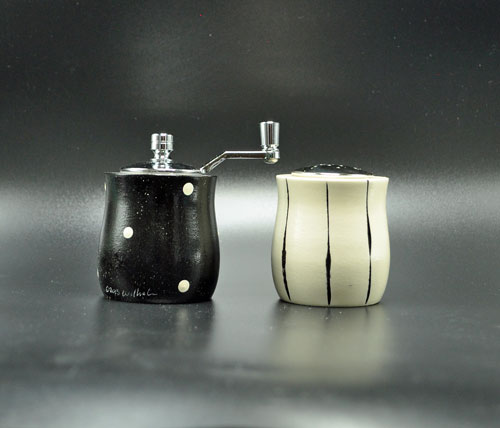 Petite Black White Salt-Pepper Shakers