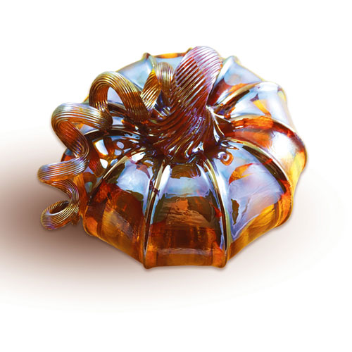 Harvest Gold Mini Glass Pumpkin