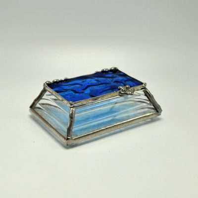 "2x3"" Sloped Sided Stained Glass Box"