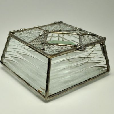 "4x4"" Sloped Sided Stained Glass Box"