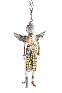 Golfer Angel Necklace-Pin-Keychain