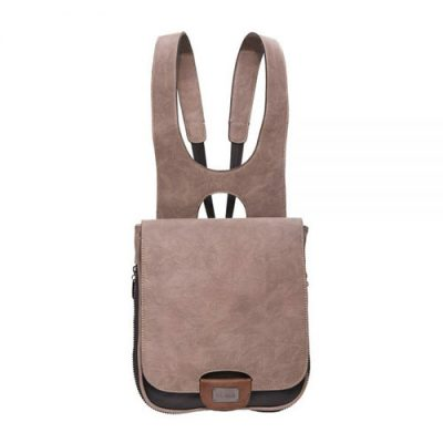 Taupe Expandable backpack