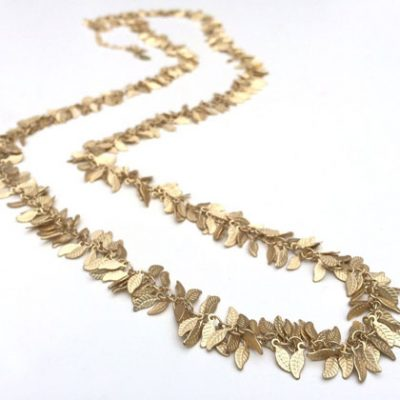 1 Strand Vonvertible gold Leaf Necklace
