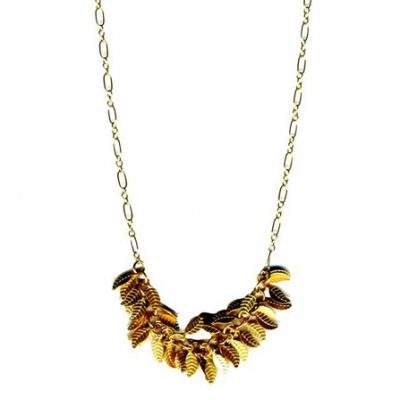 Petite Gold Leaf Necklace