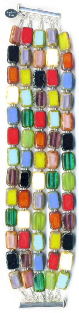 Trilogy 5 Strand Bracelet - Rainbow