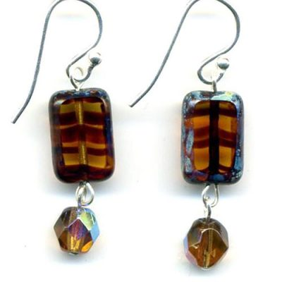 Trilogy Earrings-Amber Tortoise