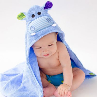 Zoocchini Baby Hooded Towel - Henry the Hippo
