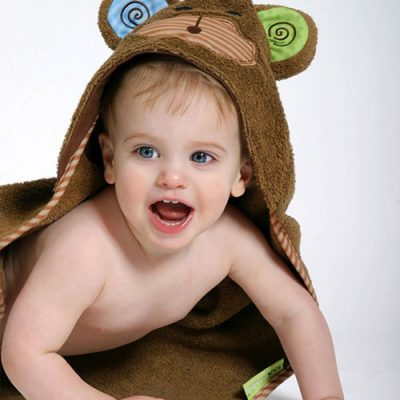 Zoocchini Baby Hooded Towel - Max the Monkey