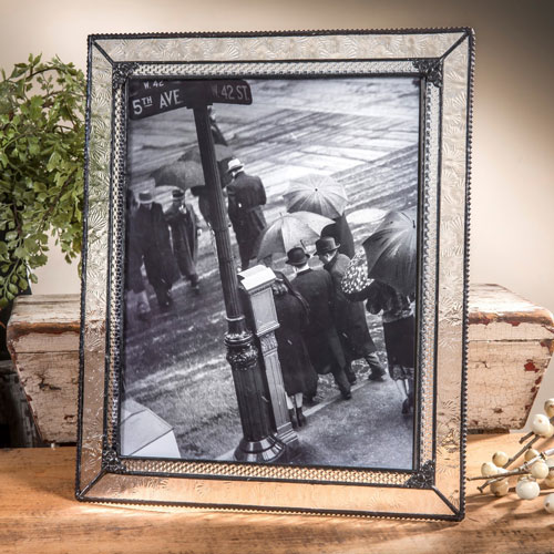 8x10 Easel Back Frame Clear Florentine With Filigree The Terry