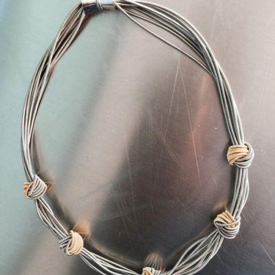 Multi Piano Wire Small Knot Necklace