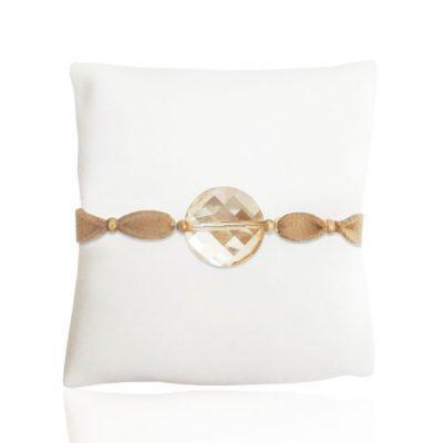 Gold Chunk Ultrasuede Bracelet