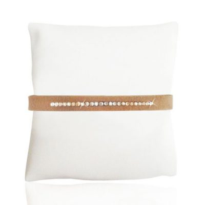 Gold Ultra Skinny Ultrasuede Bracelet