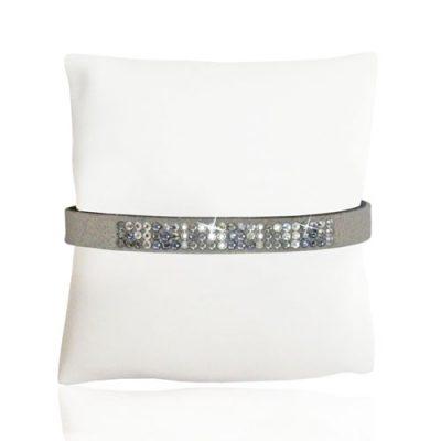 Silver Geo Ultrasuede Bracelet
