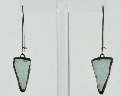 Recycled Beach Glass Earring- Turquoise