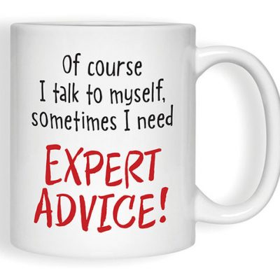 """Expert Advice"" Mugs"
