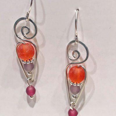 Seaglass Earring - Sunrise