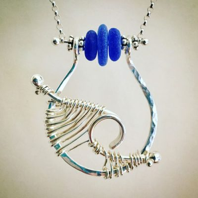 Seaglass Wave Necklace