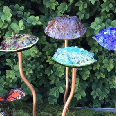 Glass Garden Mushrooms